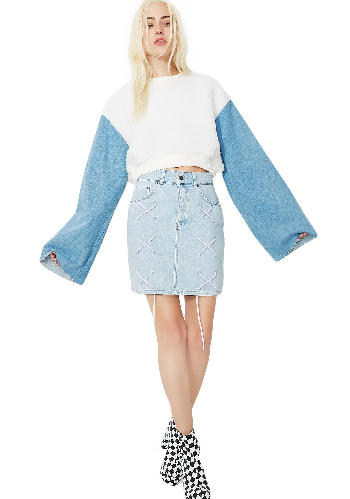 Sky Double Crosser Cropped Sweatshirt