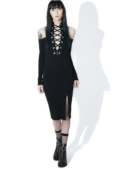Pallas Lace-Up Bodycon Dress