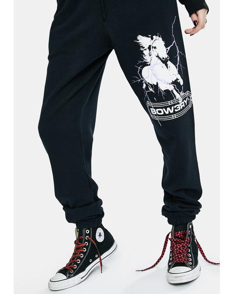 Pale Horse Graphic Sweatpants