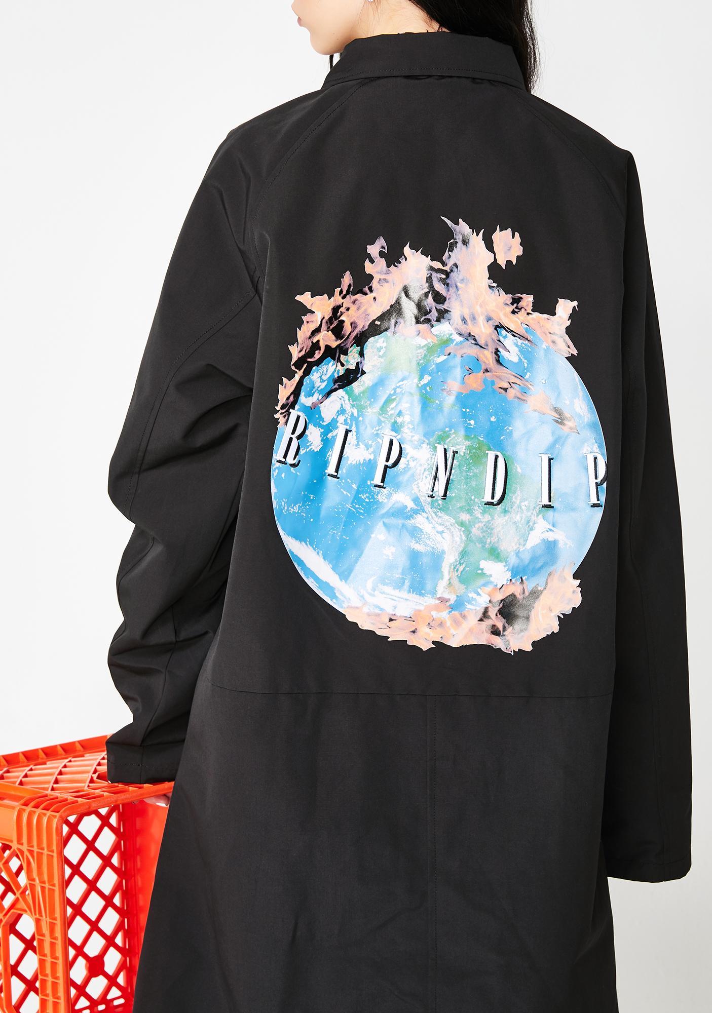 RIPNDIP World On Fire Trench Coat