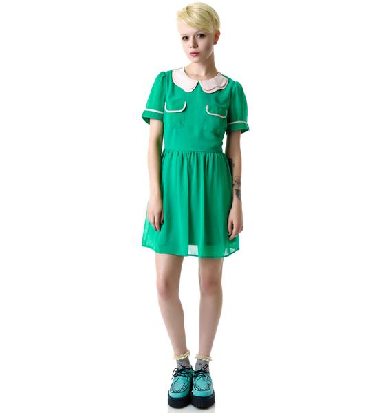 Seeing Green Pocket Front Dress