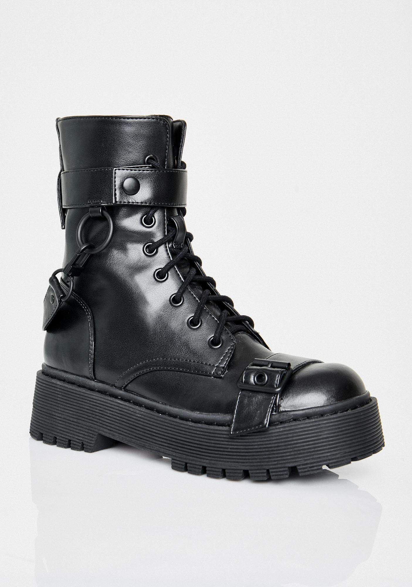 Current Mood Wicked Command Buckle Boots