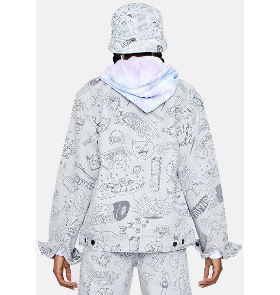 RIPNDIP Light Wash Sharpie Denim Jacket