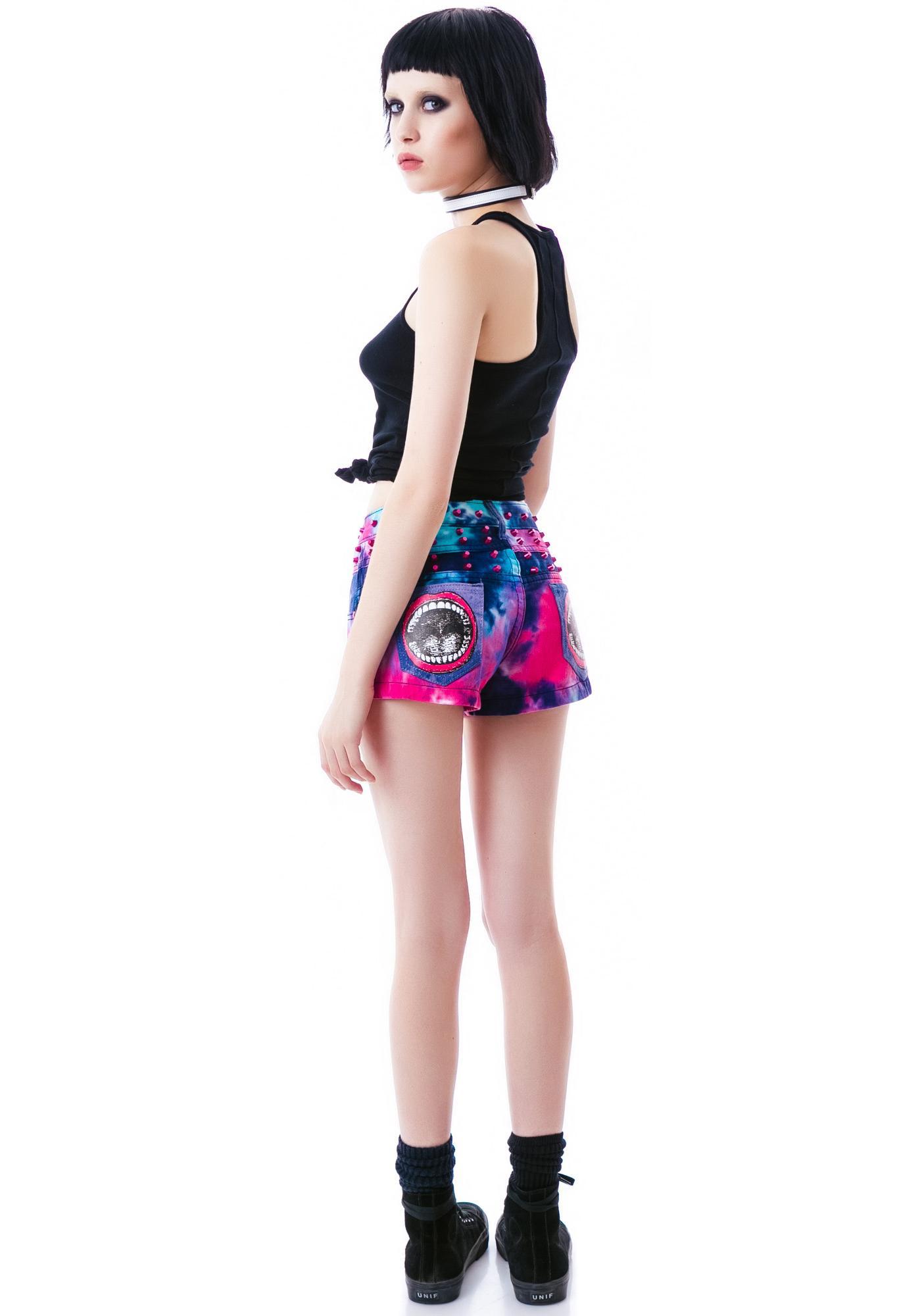 Too Fast Flower Power Cowabunga Stud Shorts