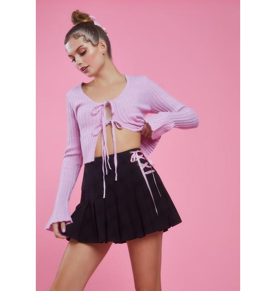 Sugar Thrillz Watch Me Pirouette Lace-Up Skirt