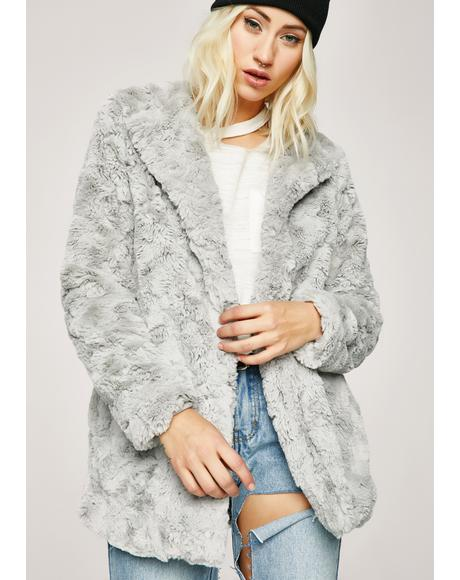 Set Fur Life Fuzzy Jacket