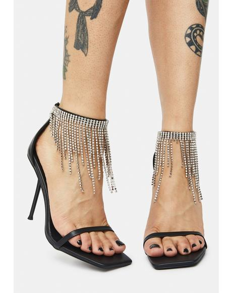 Redemption Diamante Tassel Heels