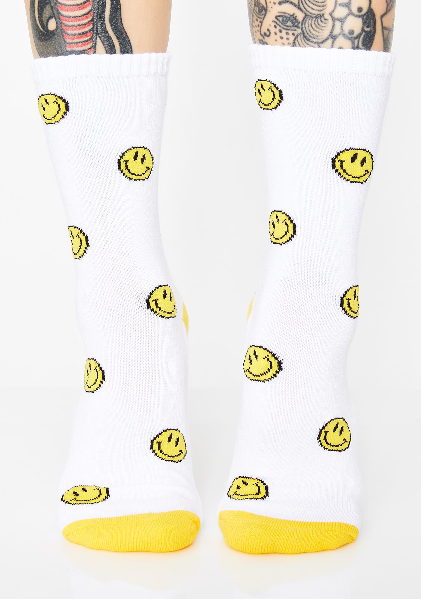 Upside Down Frown Crew Socks