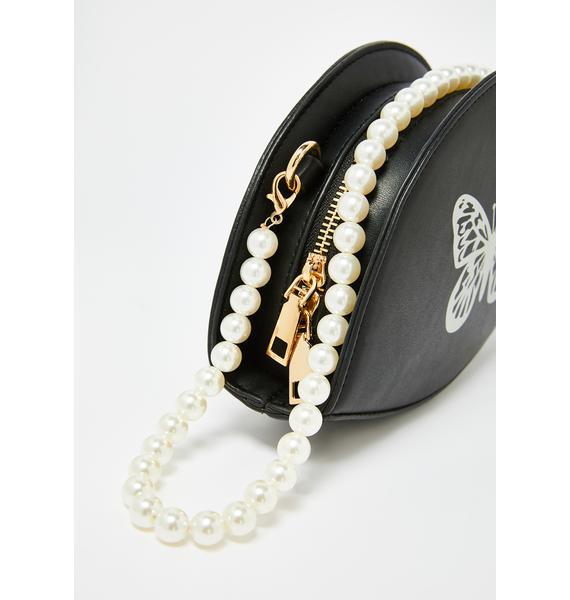 Pearly Dates Butterfly Crossbody Handbag