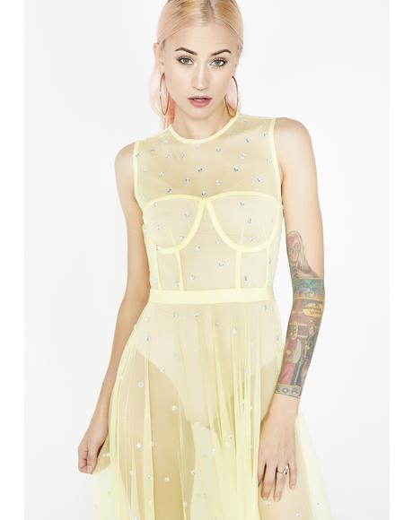 Translucent Star Maxi Dress