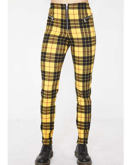 Plaid Pearl Pants