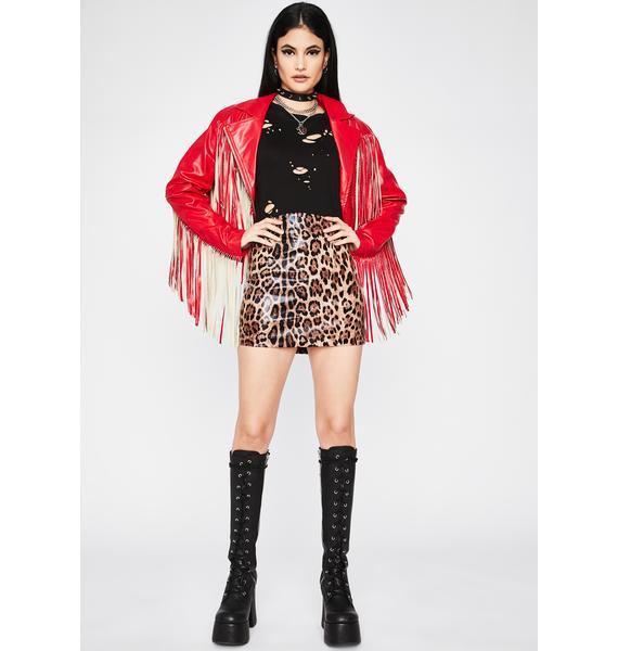 Wild Actions Leopard Skirt