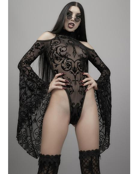 Midnight's Embrace Mesh Bodysuit