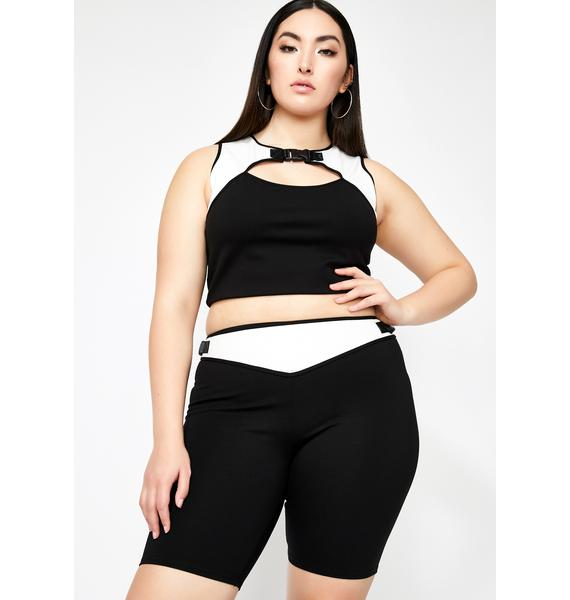 Poster Grl Mz Booked N' Busy Biker Shorts