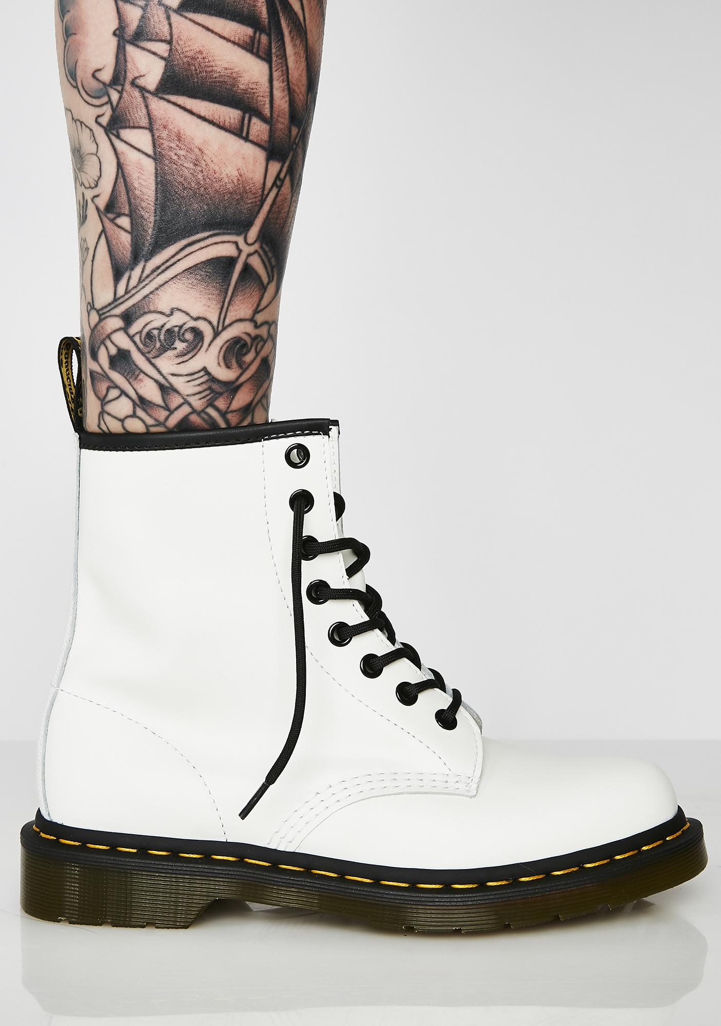1460 White 8 Eye Boots by Dr Martens