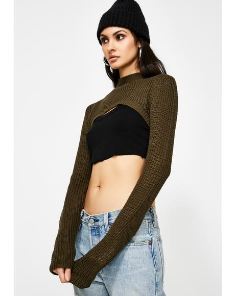 Cold Thots Ultra Crop Sweater