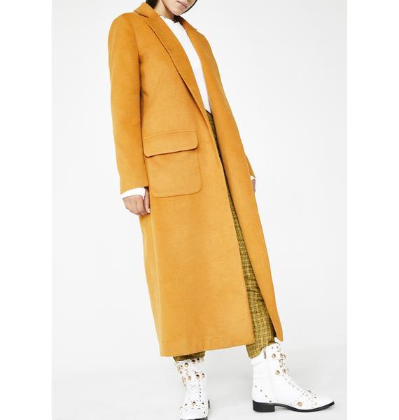Glamorous Catchin' Heat Longline Coat