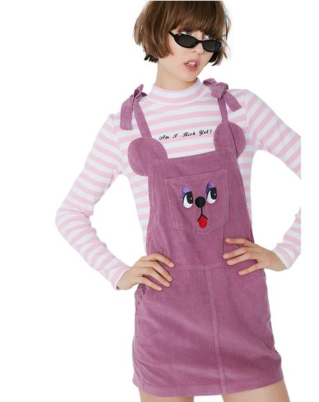 Bow Tie Bear Pinafore Dress