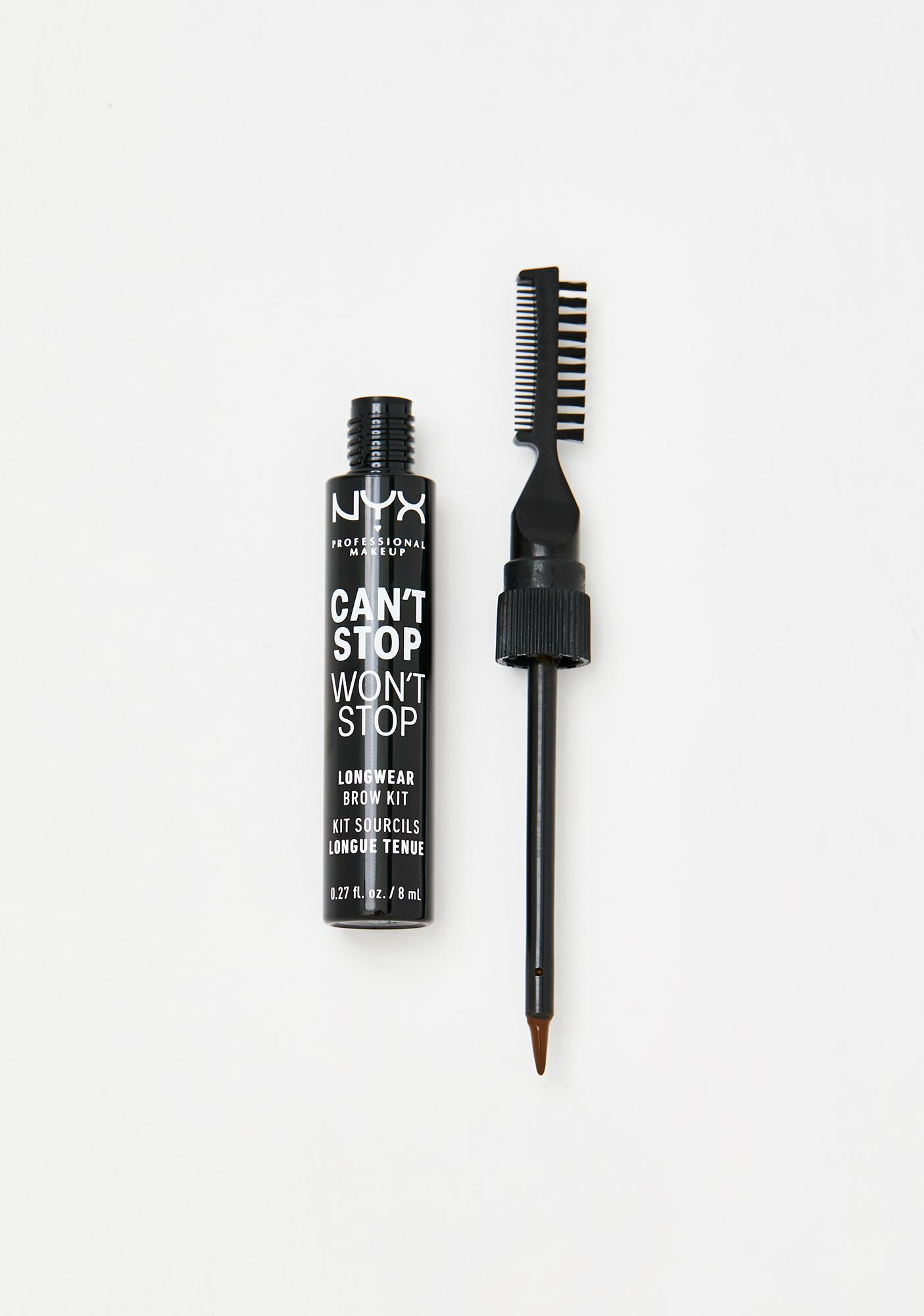NYX Professional Makeup Espresso Can't Stop Won't Stop Longwear Brow Kit