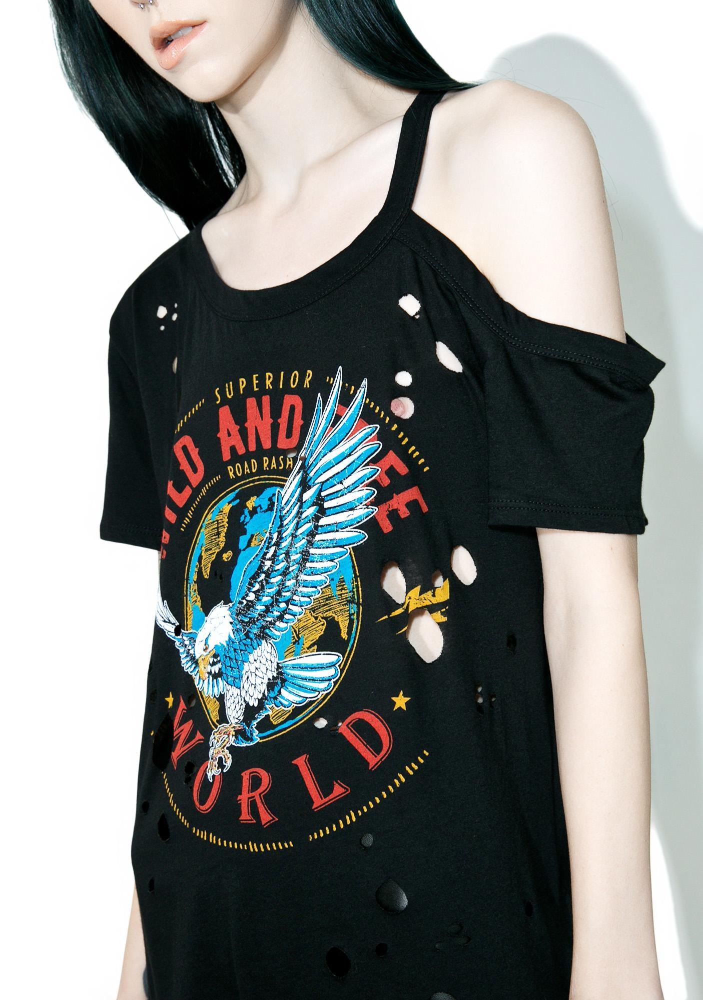 Wild World Distressed T-Shirt