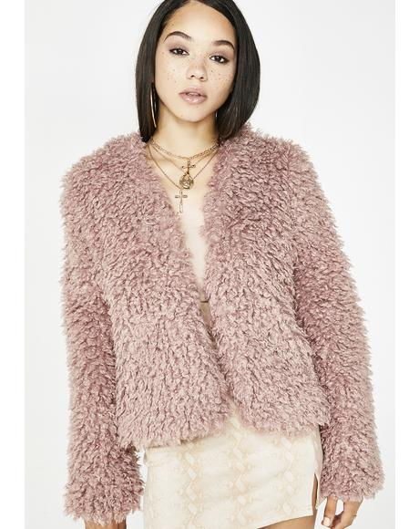 Sweet Embrace Fuzzy Coat