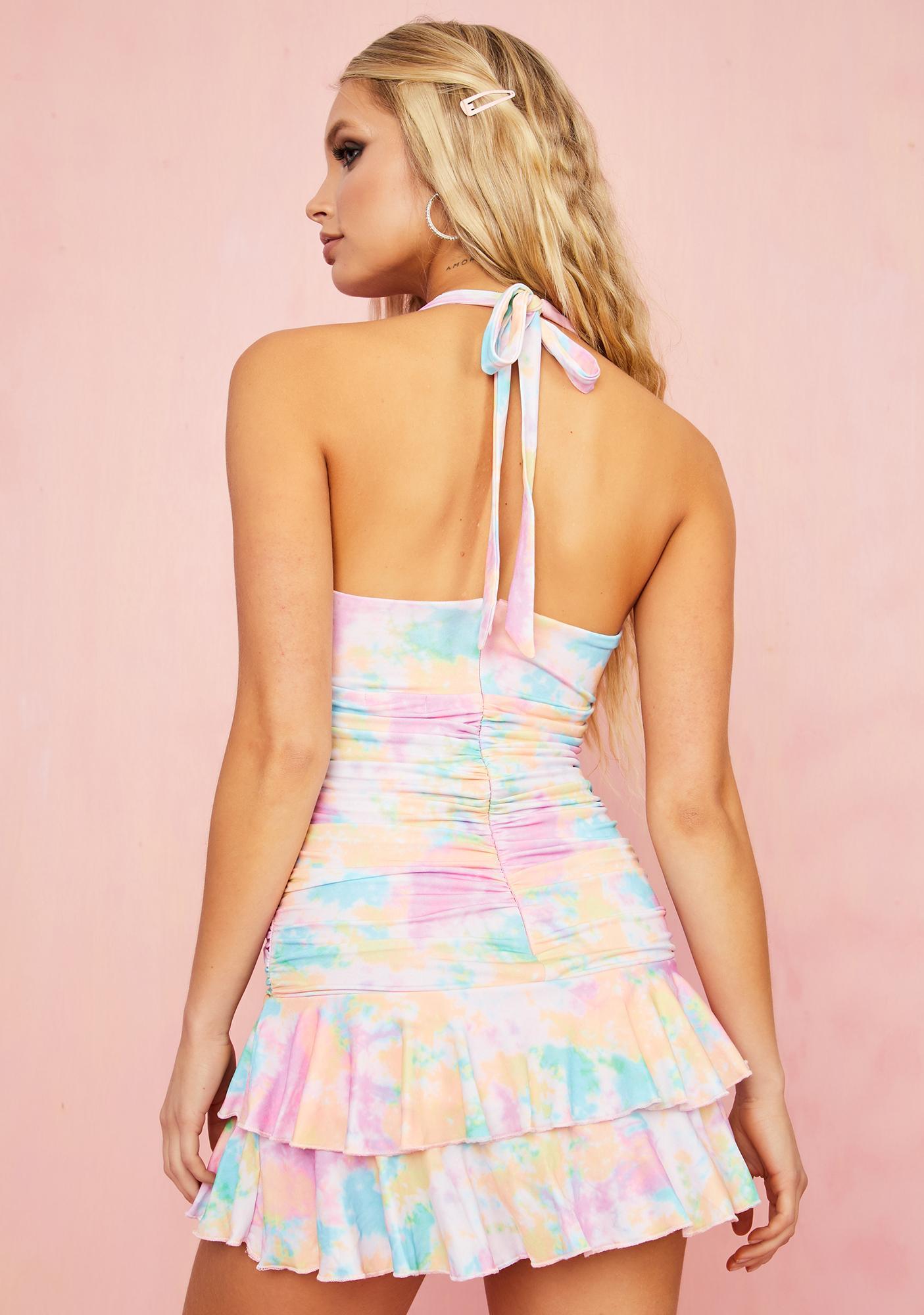 Sugar Thrillz Party Foul Halter Dress