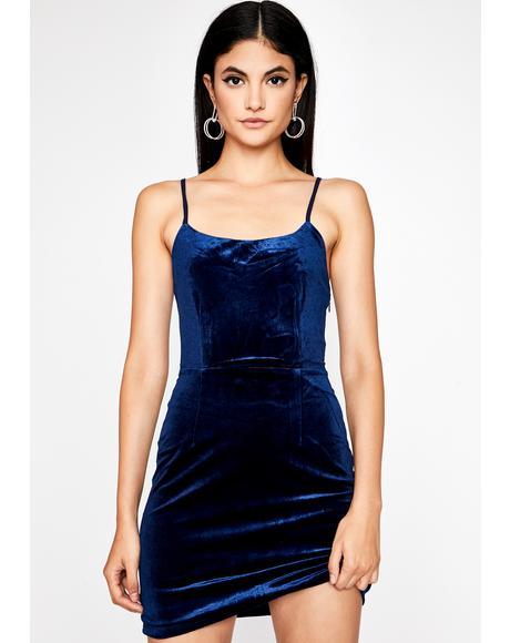 Midnight Rendezvous Velvet Dress