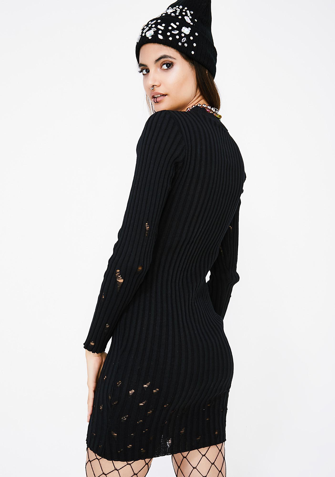 Rough Edges Knit Dress