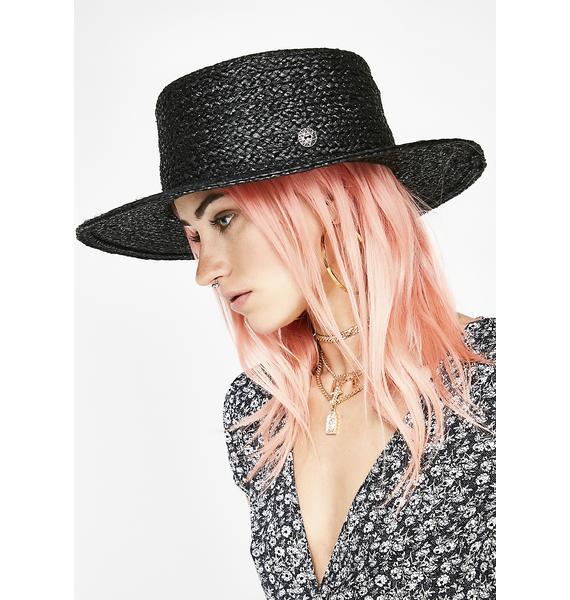 Dark Love In The Garden Straw Hat