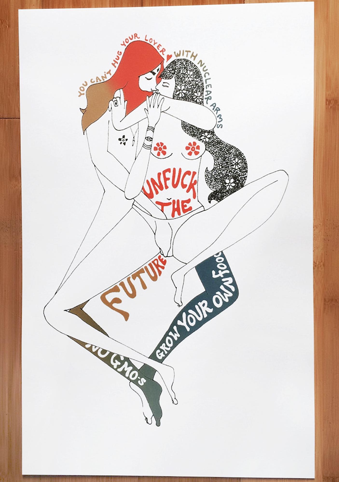 Sugarhigh + Lovestoned Unfuck The Future Poster