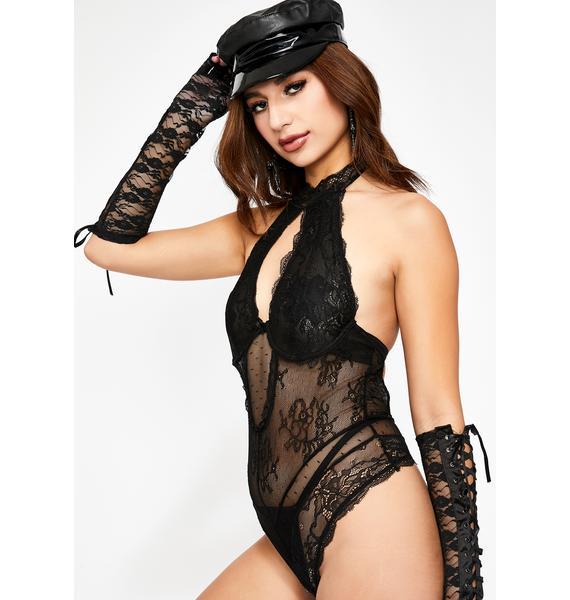Sinful Girl On Fire Lace Bodysuit