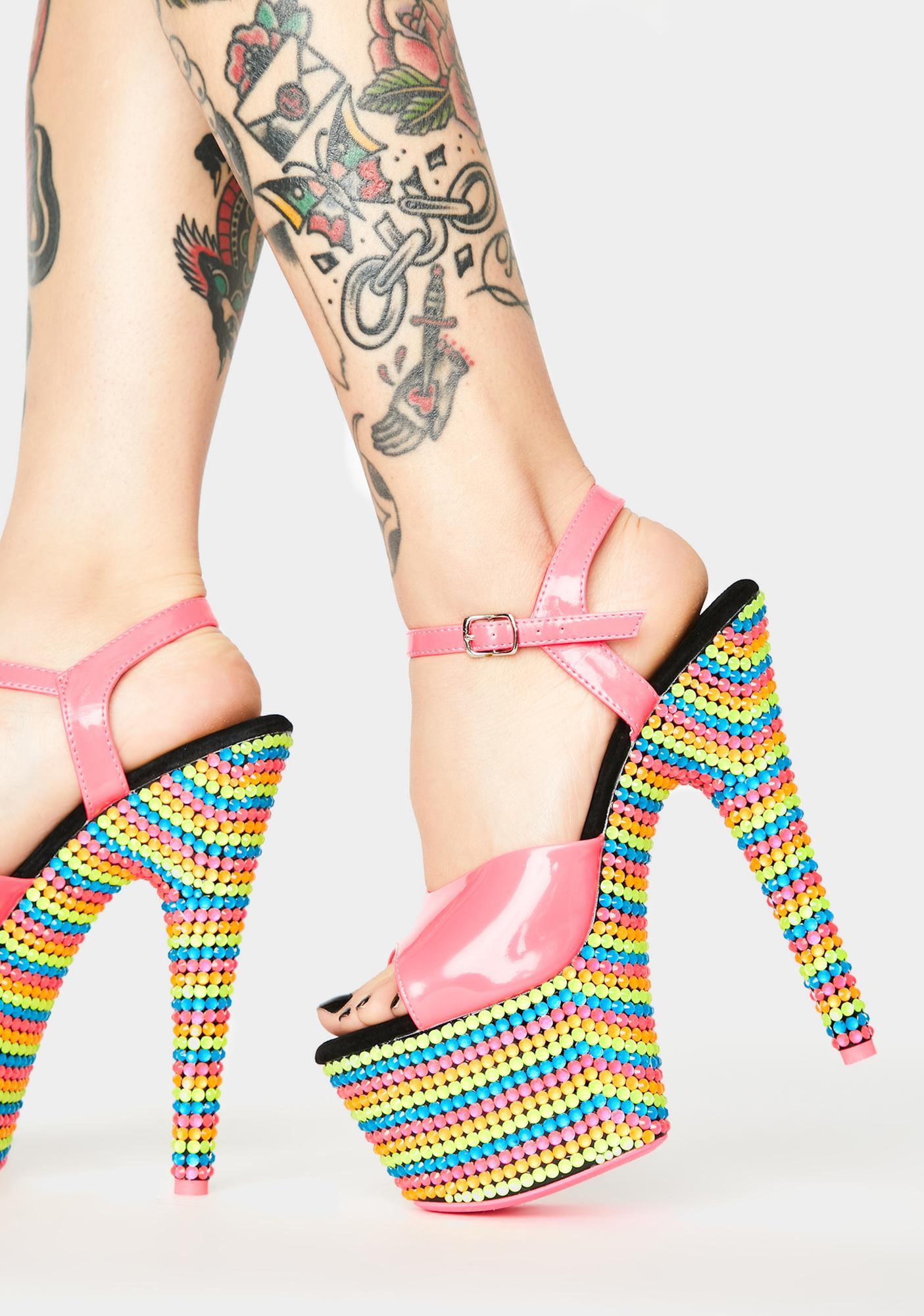 Pleaser Fairy Freaky UV Platform Heels