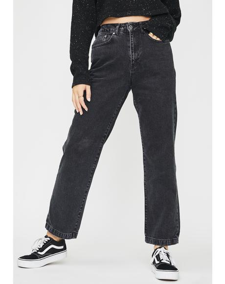 Charcoal Dad Jeans