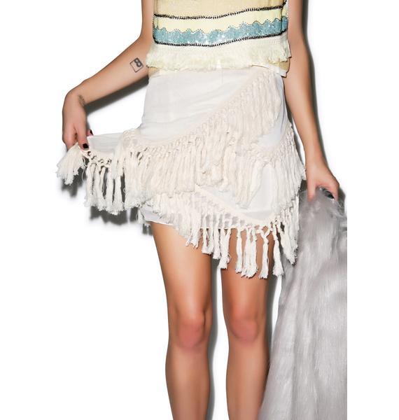 Wanna Fringe Me Skirt