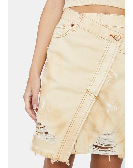 Butter Cream Parker Wrap Skirt
