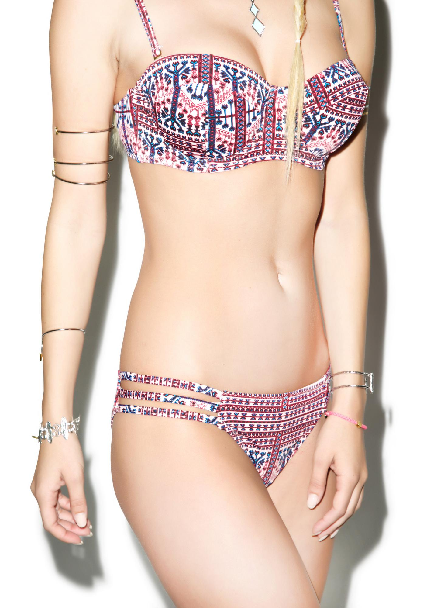 Somedays Lovin Aztec Carpet Bikini Bottoms