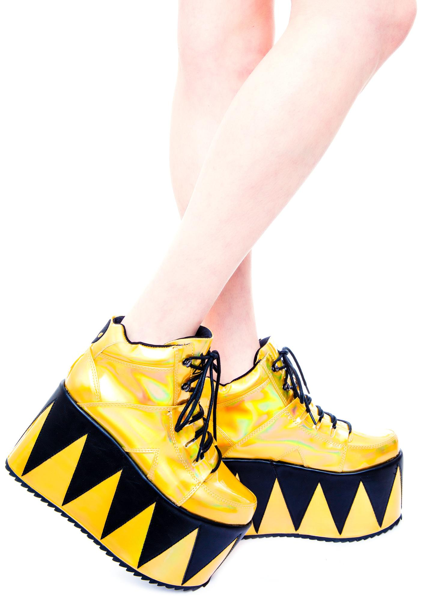 Y.R.U. Qozmopolitan Platform Shoes | Dolls Kill