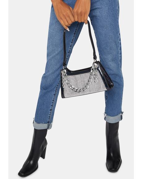The Bling Thing Rhinestone Chain Shoulder Bag