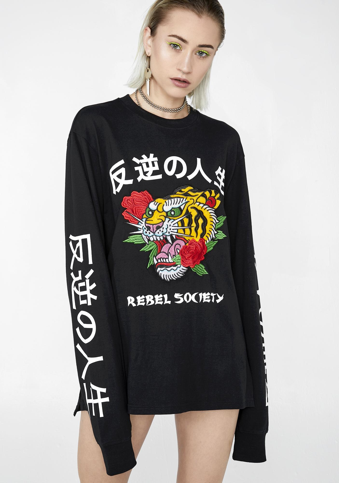 Rebel Society Long Sleeve Top