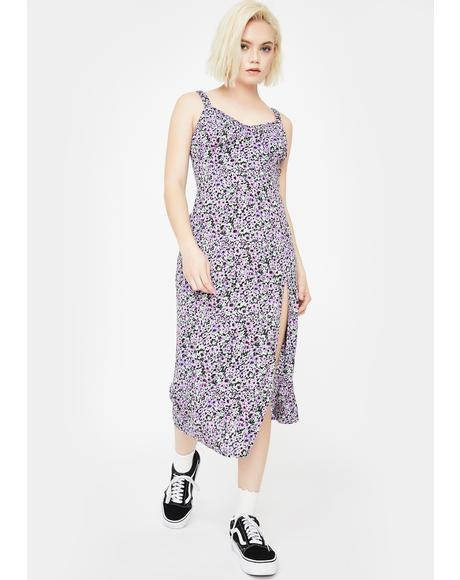 Lilac Blossom Jova Midi Dress