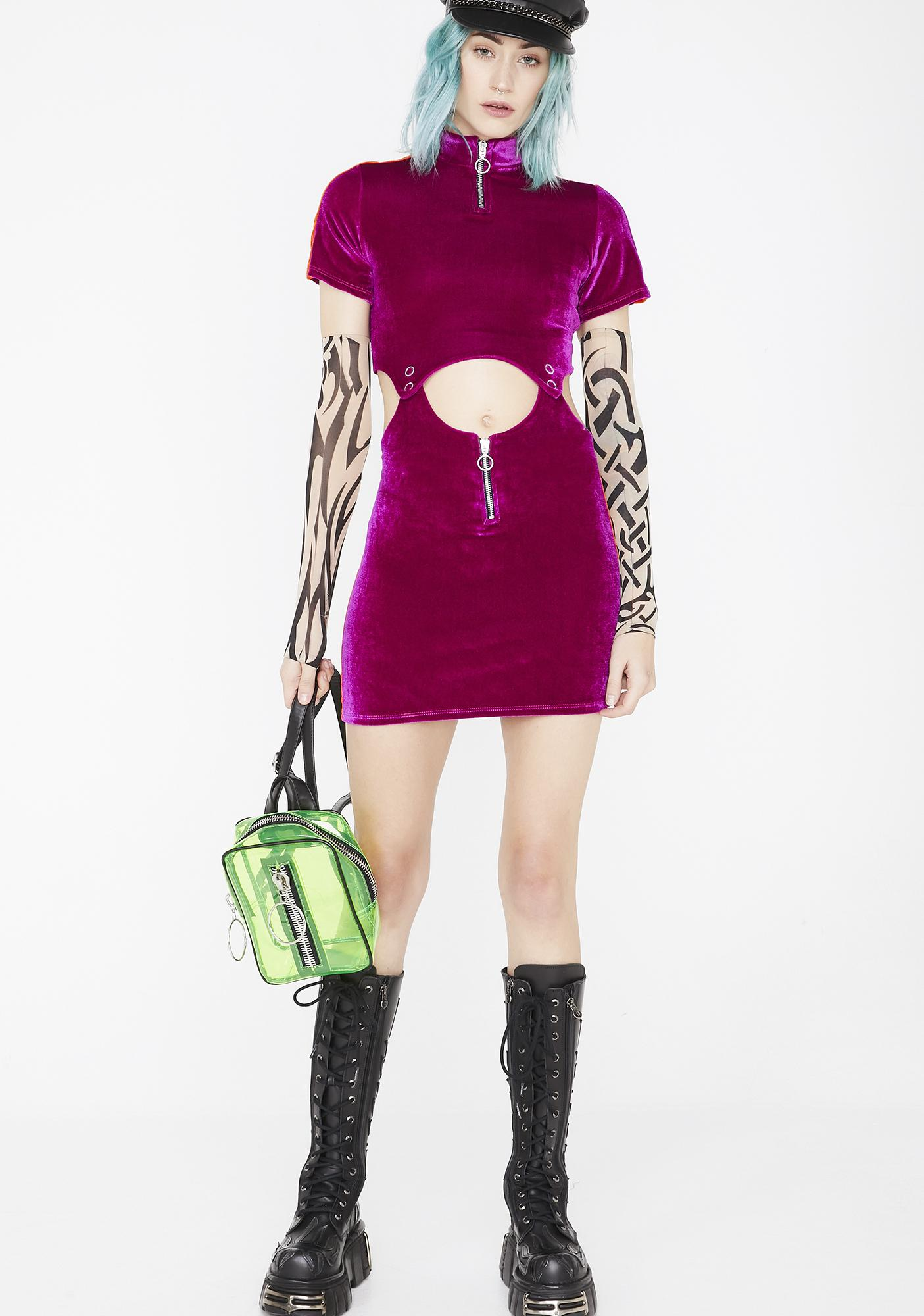 Strange Couture Cyberfunky Two Piece Velvet Dress