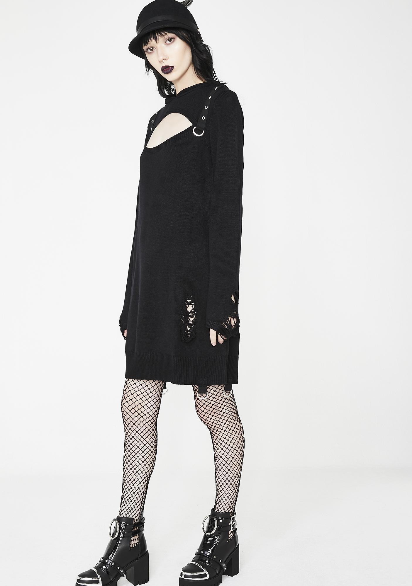 ... Killstar Bad Kitty Bondage Knit Dress ...