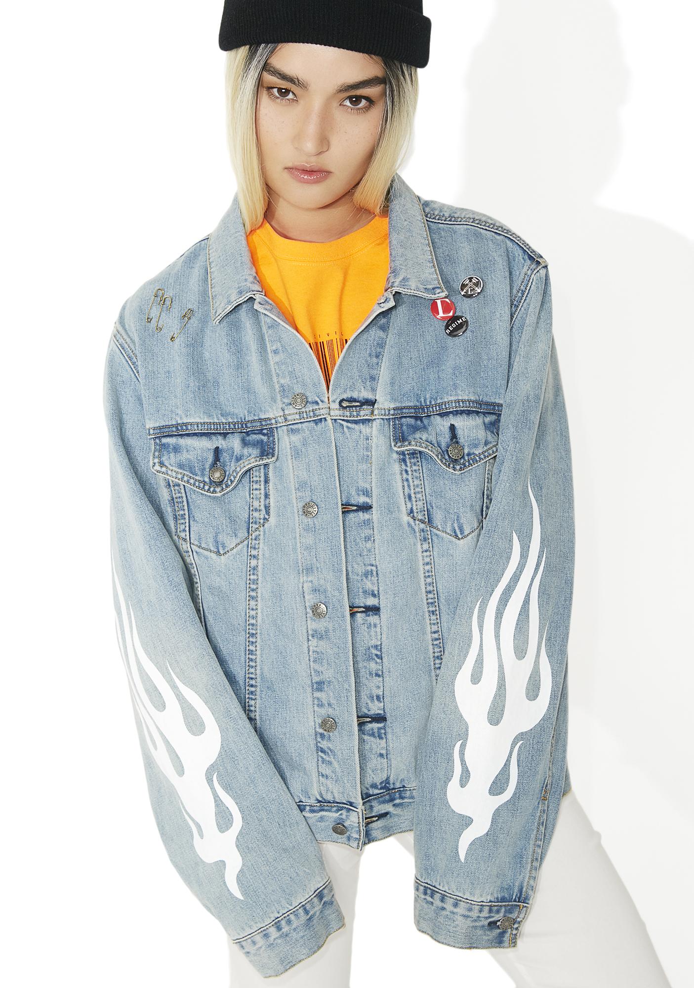 Civil Clothing Girl Code Oversized Denim Jacket