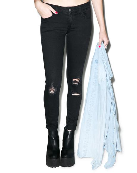 Hannah Tonight's The Night Slim Crop Jeans