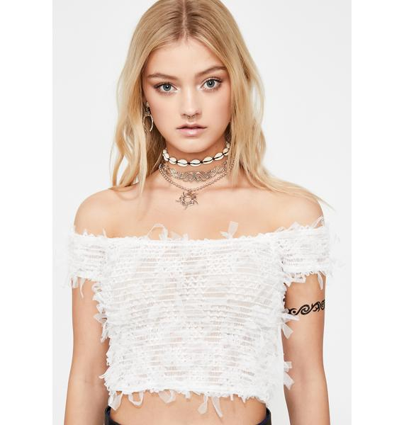 Westward Bound Tulle Crop Top
