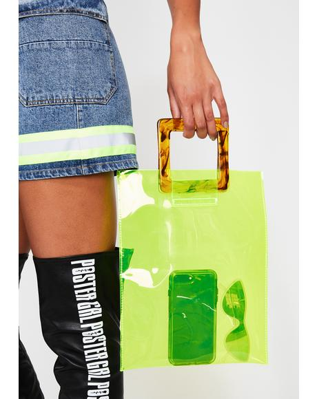 Slime Chic Clear Handbag
