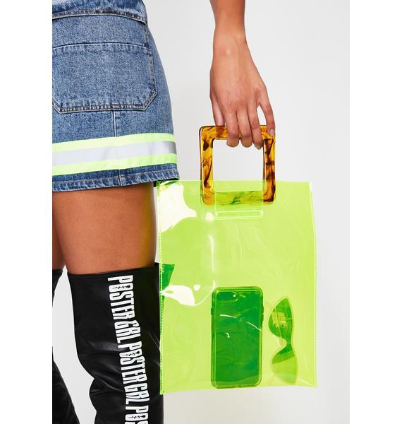 Slime Chic Clear Handbag