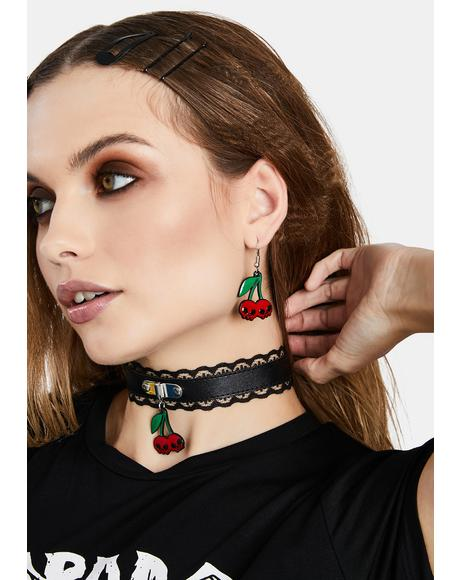 I Want Cherries Lace Choker