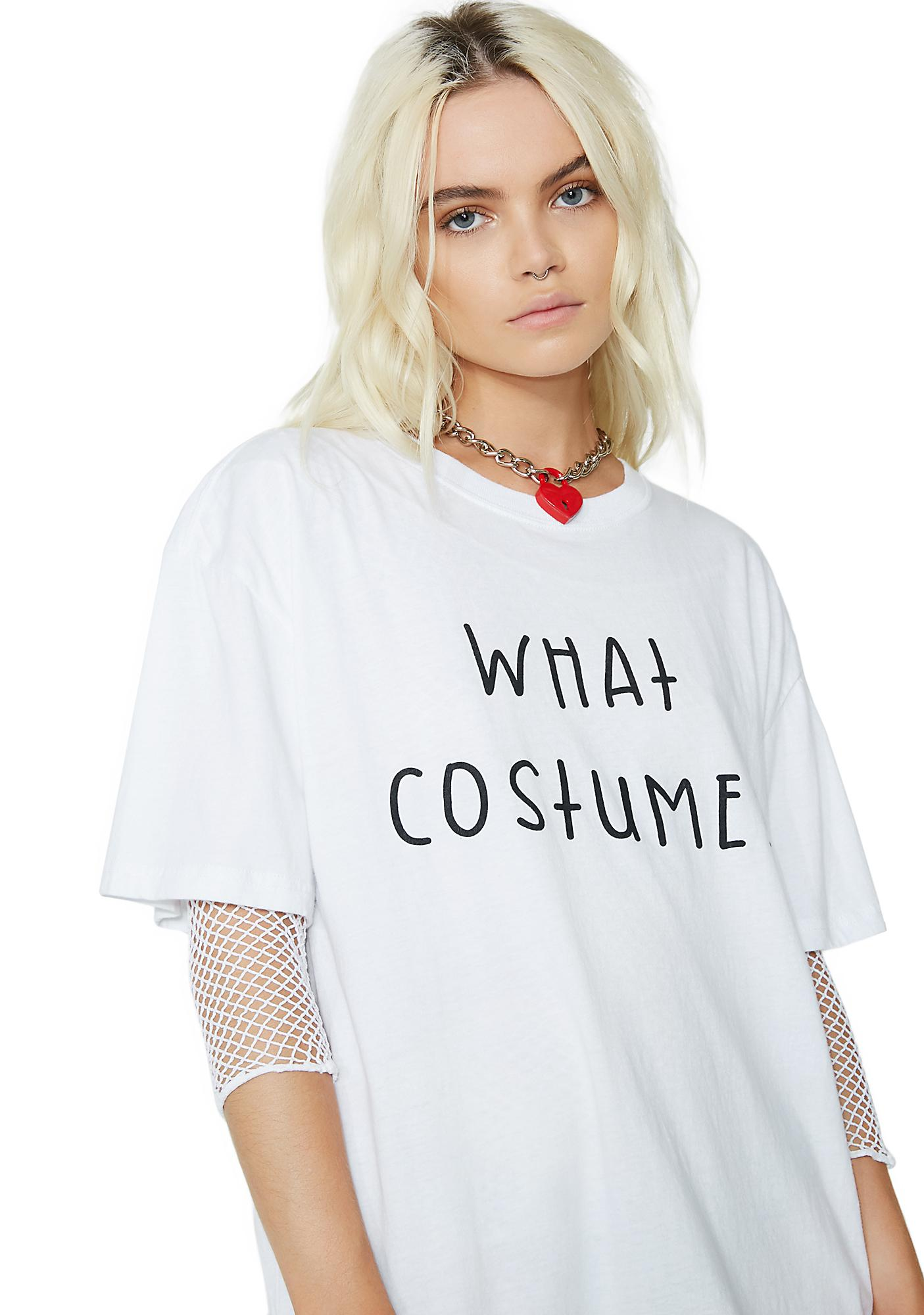 Dolls Kill What Costume Oversized Tee