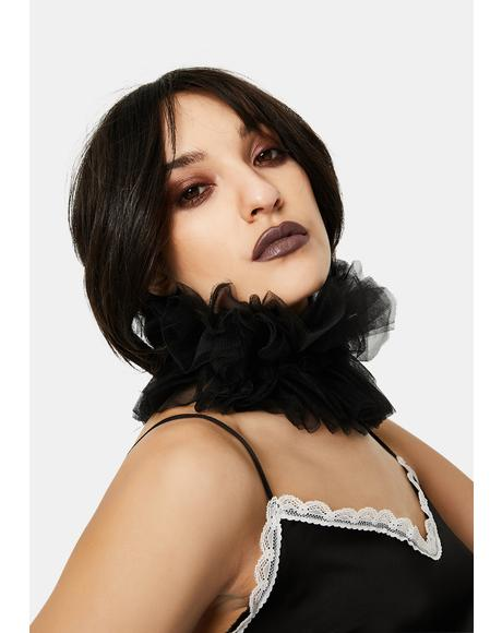 Chic Clown Sheer Oversized Ruffles Choker